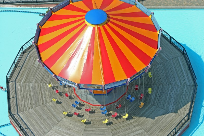 From above swing ride at Navy Pier