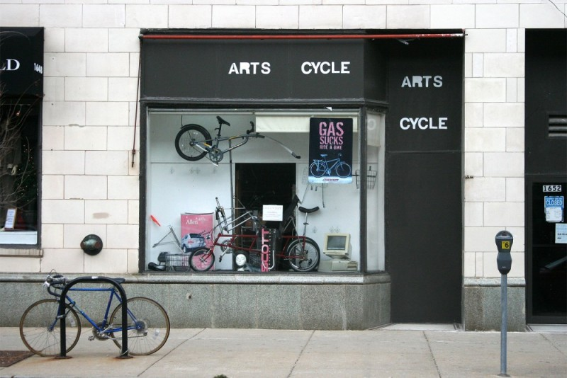 Bicycle shop in Chicago