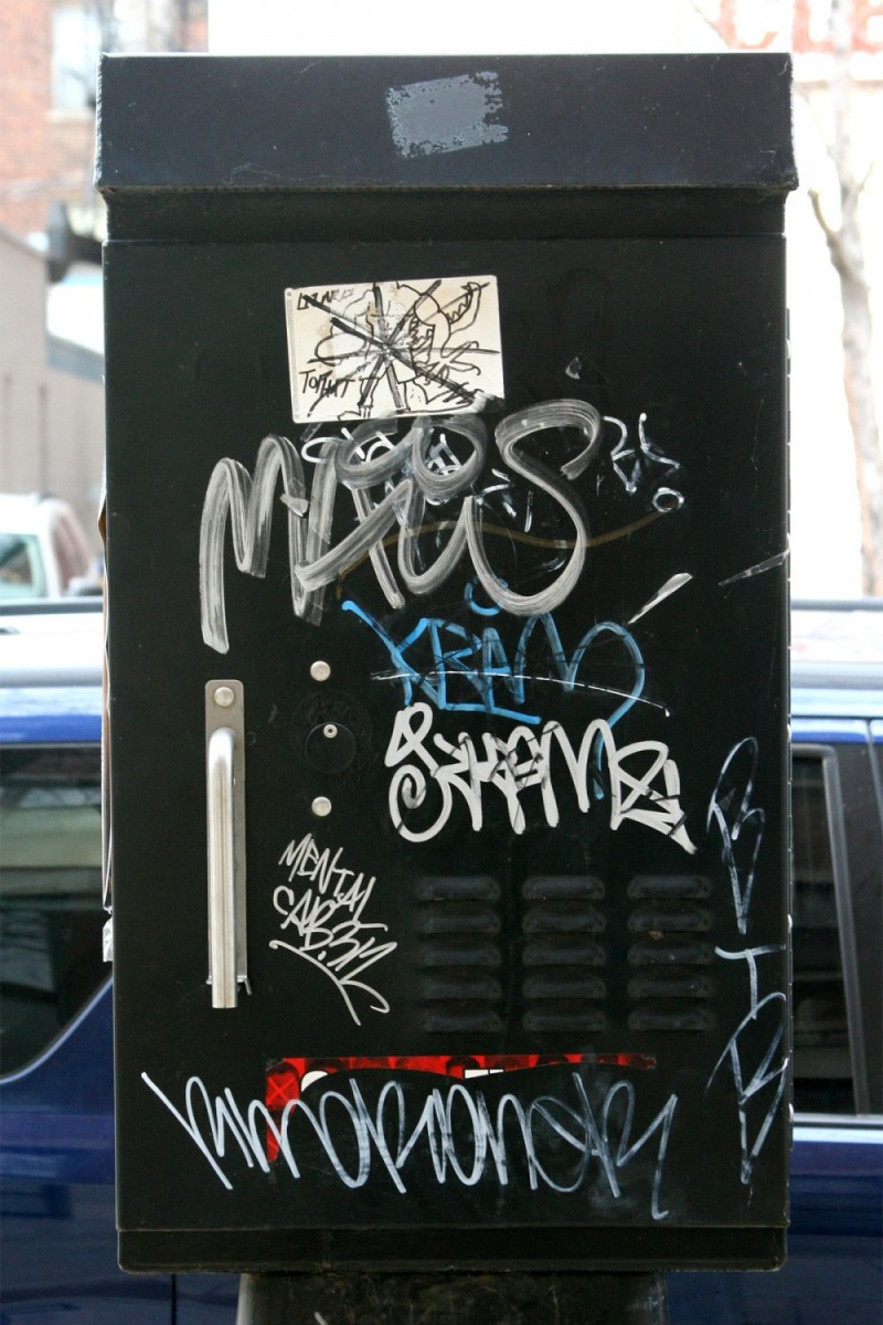 Graffiti on metal box