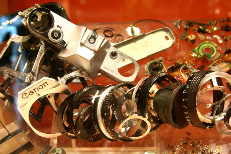 Canon camera disassembled
