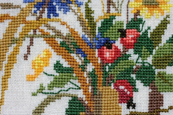 Embroidery detail--macro
