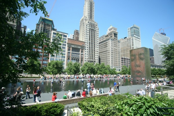Crown Fountain in Chicago, Illinois