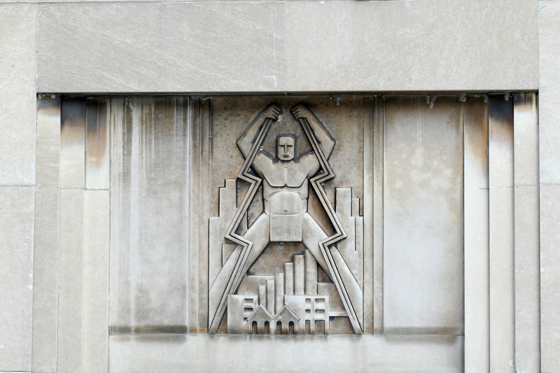 Architectural detail, downtown Chicago, Illinois