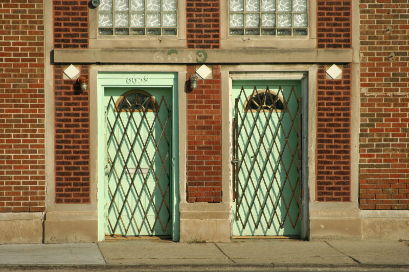 Two Green Doors in Chicago