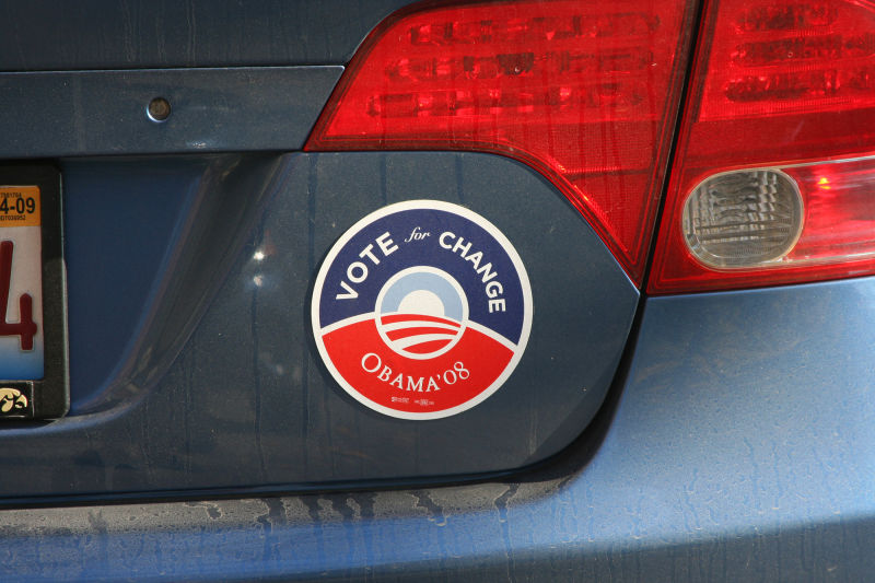 Obama Bumper Sticker in Chicago