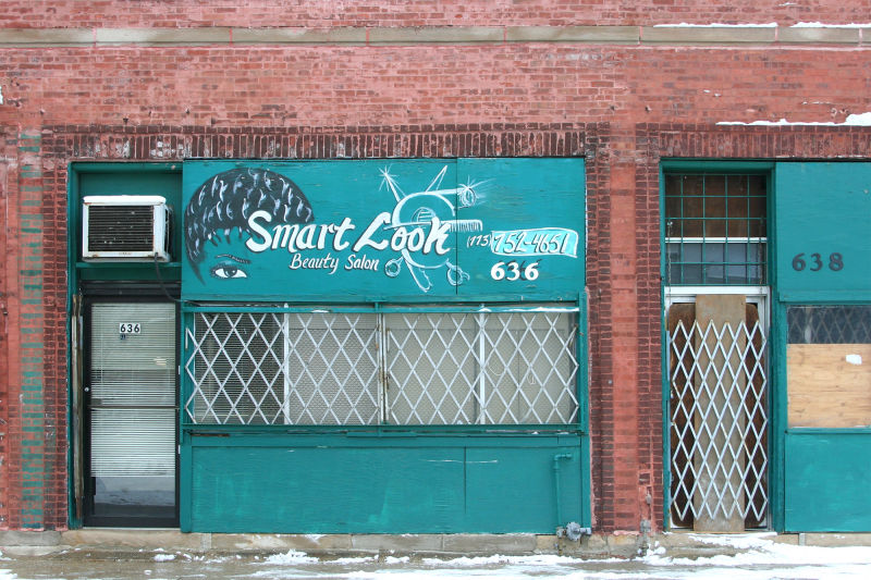 Storefront on south side of Chicago, Illinois