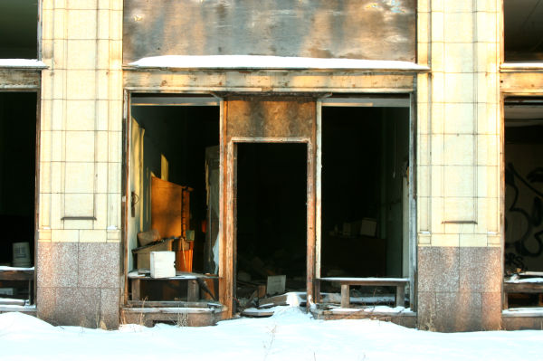 Vacant building in Gary, Indiana