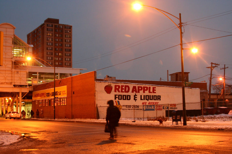 Night scene in Chicago, Illinois