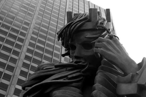 Sculpture of King Lear in Chicago, Illinois