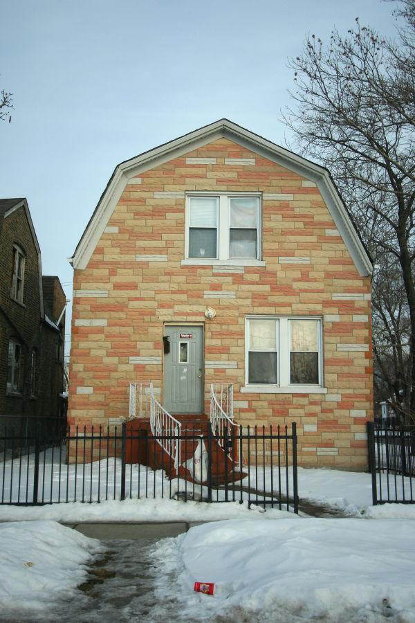 Interesting house style in Chicago neighborhood
