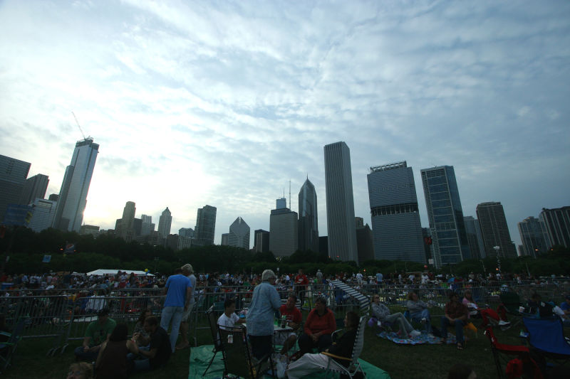 Grant Park on July 3, Independence Day celebration