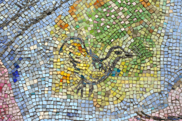 Detail from Chagall mosaic, Chicago