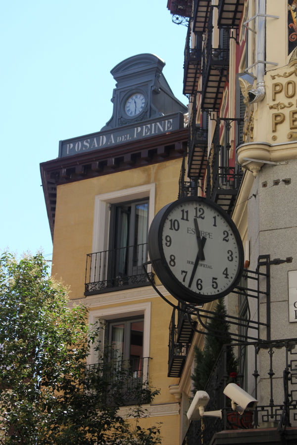 Two Clocks on a Madrid Street