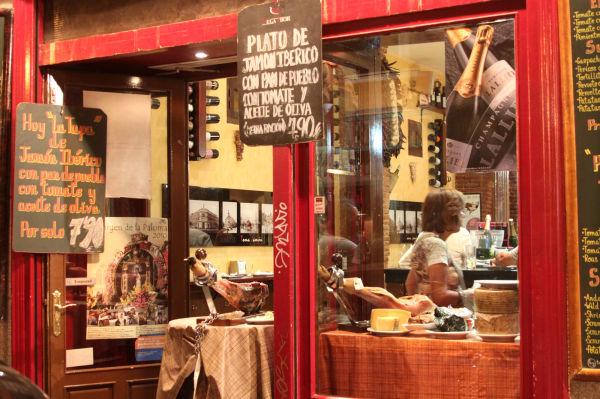 Restaurant in Madrid.