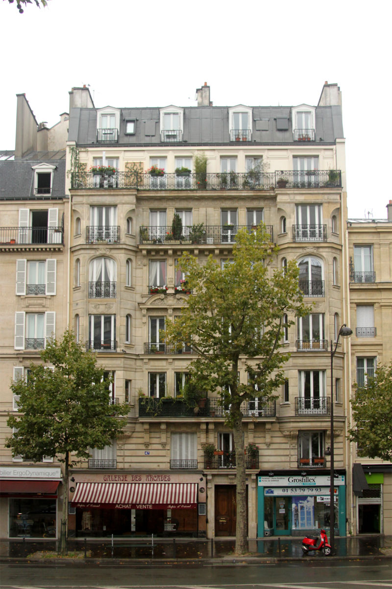 Building near Les Arcades, Paris France