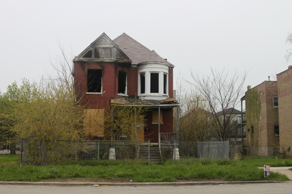 Fire Damaged House in Chicago