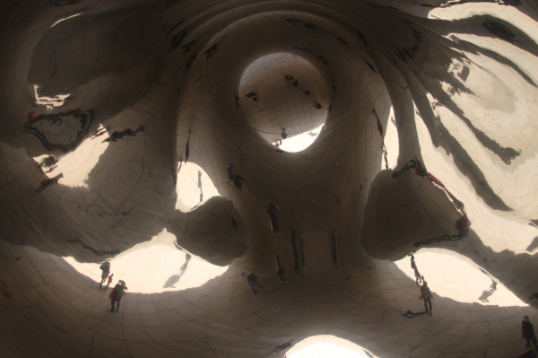 Unusual reflections in Chicago Bean