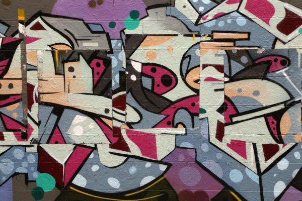 Detail of Graffiti in Hyde Park, Chicago