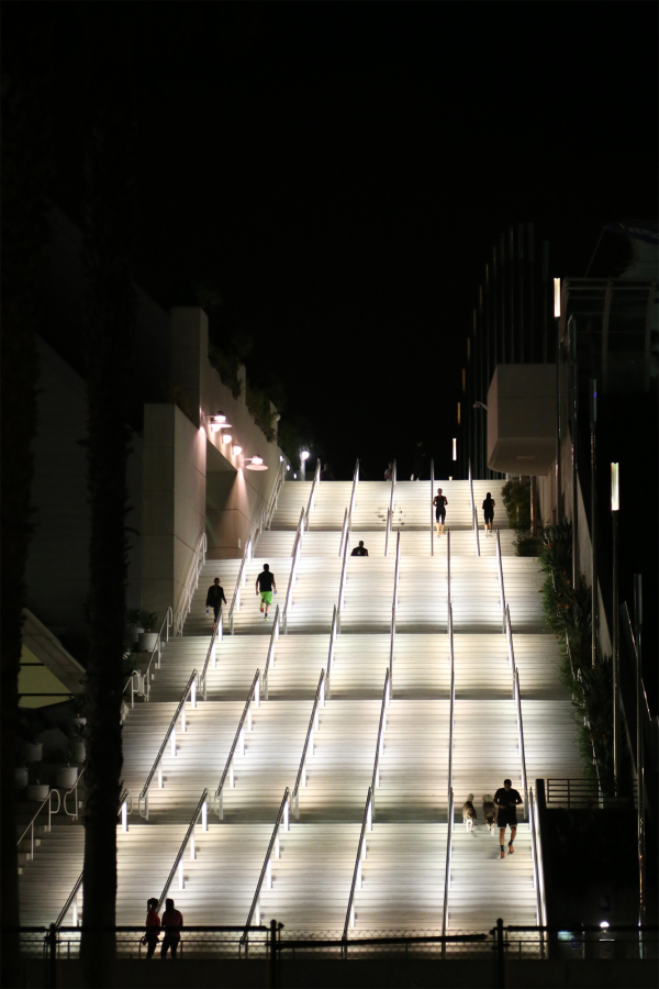 Running stairs at San Diego Convention Center