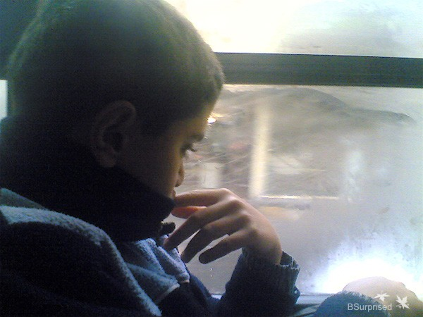 Boy on a Bus