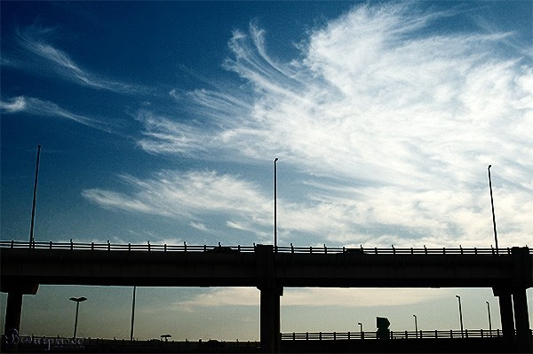 Sky Over a Bridge