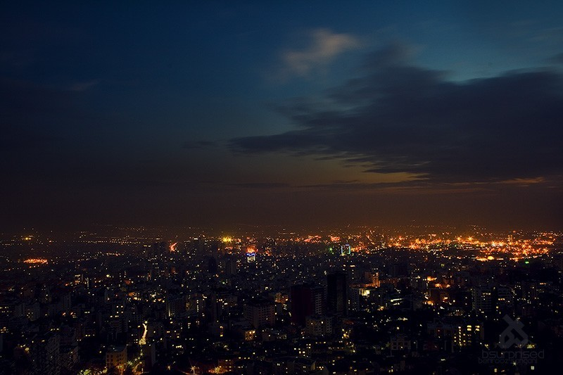 Nightfall in Tehran