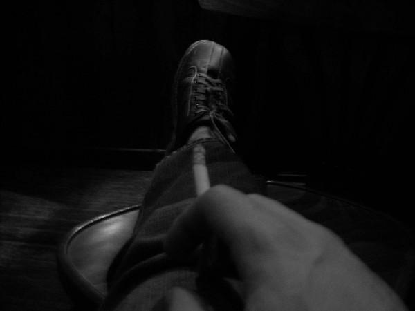 Leg in the shadows