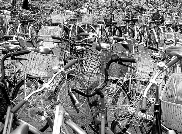 park bicycle nishinomiya hyogo japan
