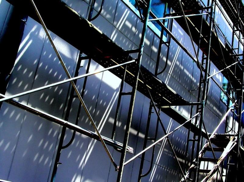 Japan amagasaki building scaffolding konakajima