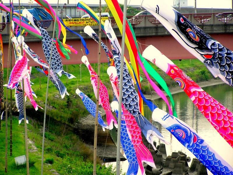 japan amagasaki kodomo-no-hi koinobori river