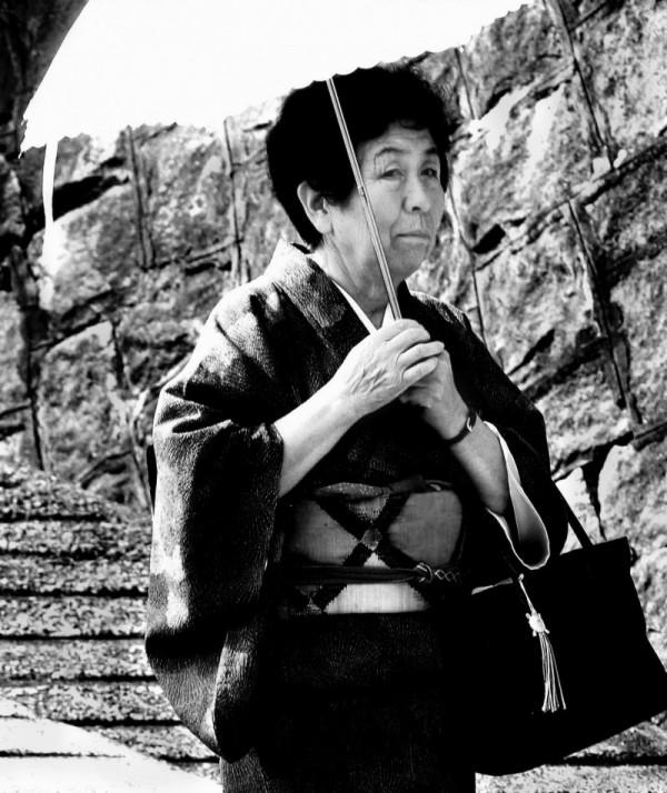 Uegahara Nishinomiya Japan lady kimono umbrella
