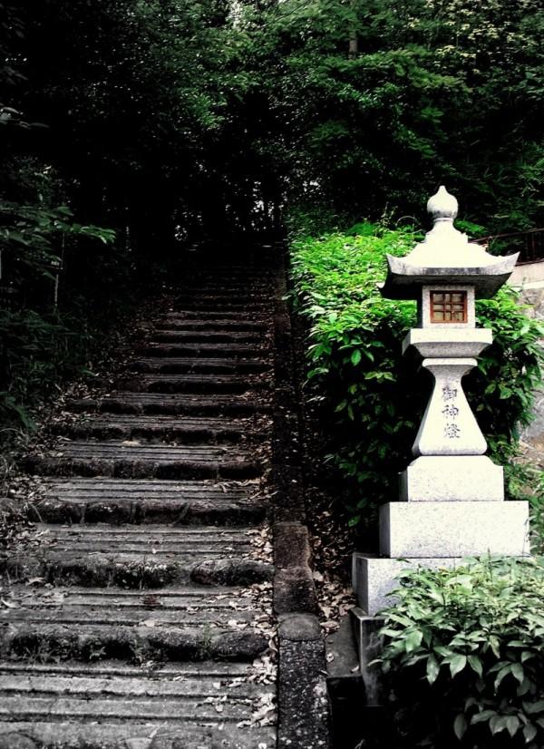 stairs nishinomiya hyogo japan uegahara lantern