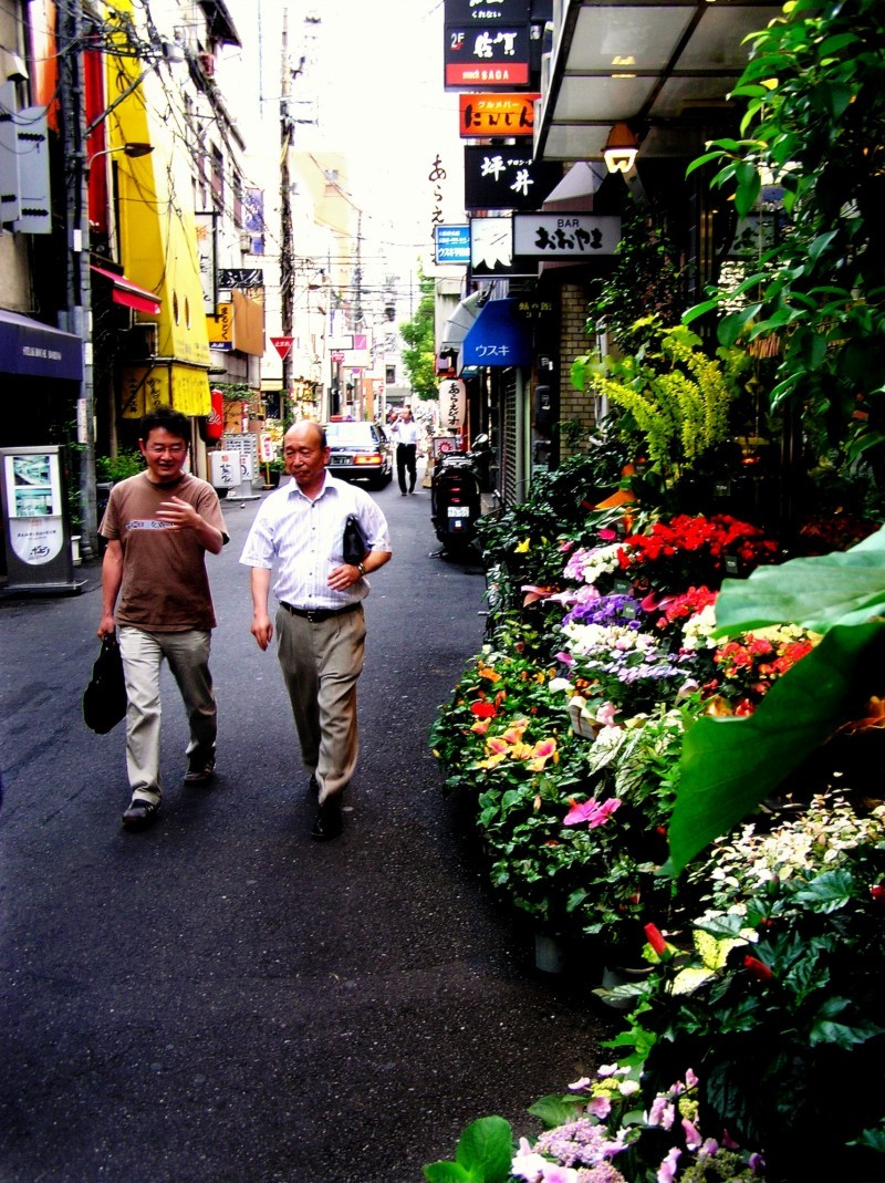 Evening, Kitashinchi Osaka florist flower Japan