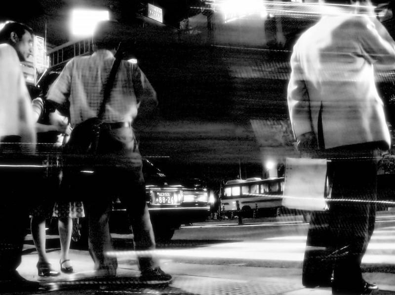 night Osaka Japan street