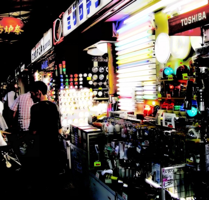 shop light akihabara tokyo japan shopper
