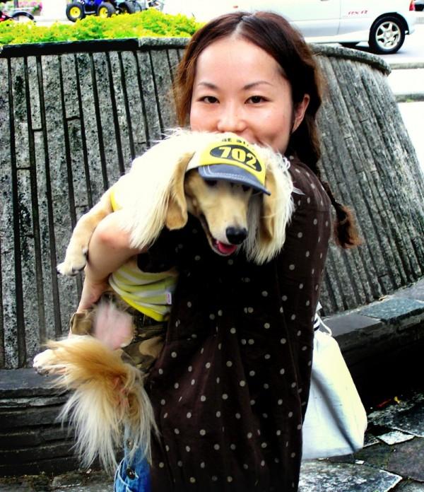 girl dog street Okayama