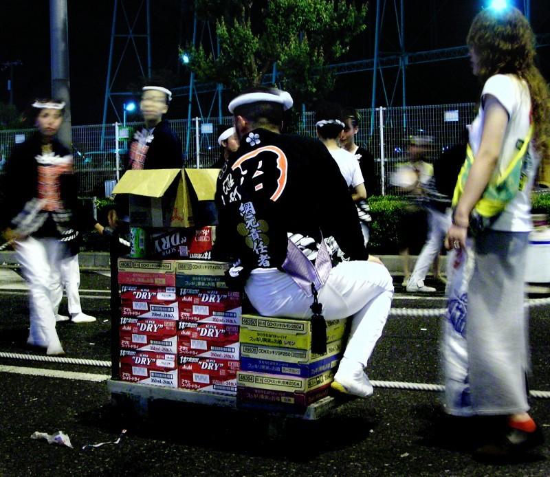 Danjiri Matsuri Osaka beer