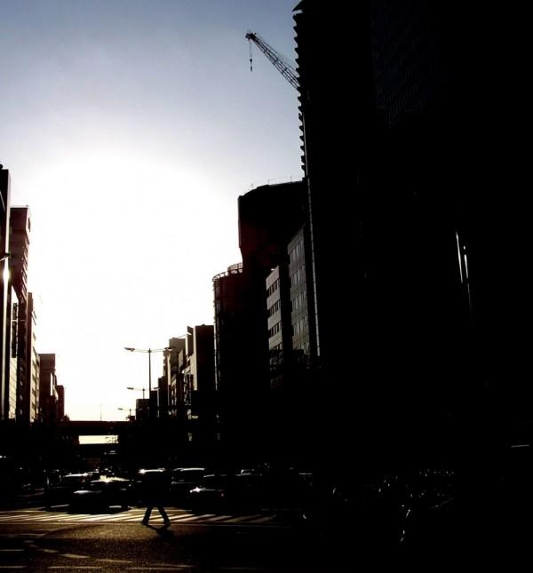 umeda osaka street sunset