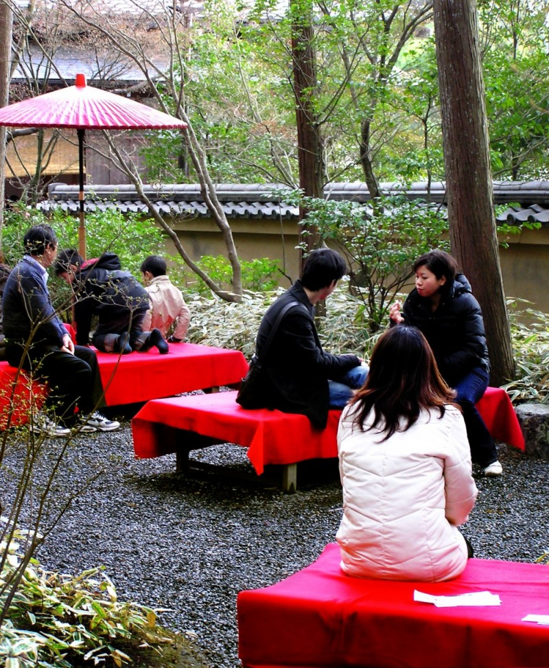 Kinkakuji temple Kyoto garden tea Japan