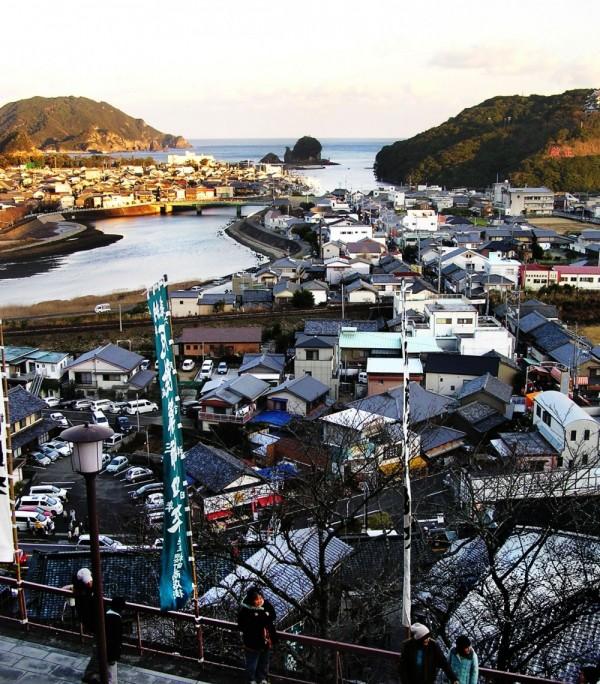 Hiwasa town view
