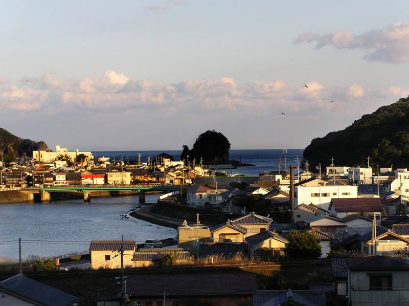 Snail Island, Hiwasa town view