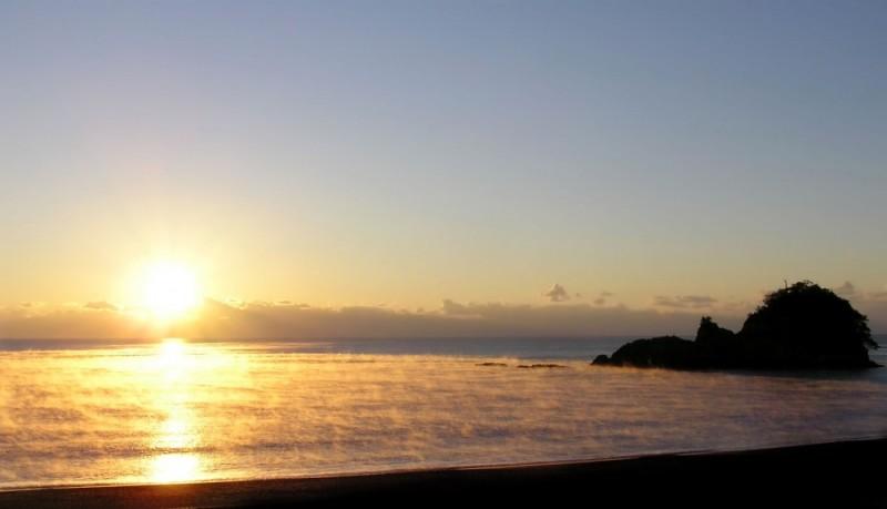 sunrise Ohama beach Hiwasa Tokushima island