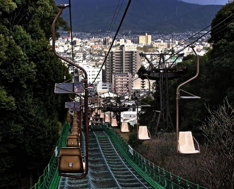 Matsuyama Castle Chair Lift Japan shikoku