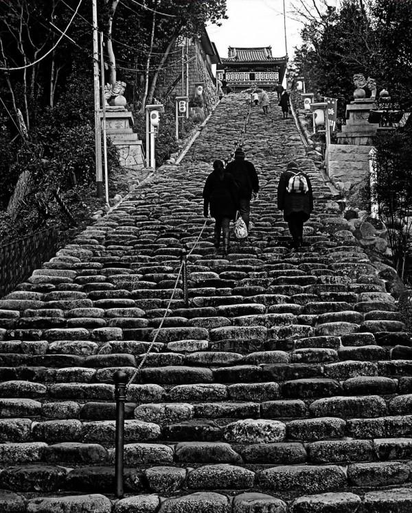 Isaniwa Shrine Matsuyama Japan steps shikoku