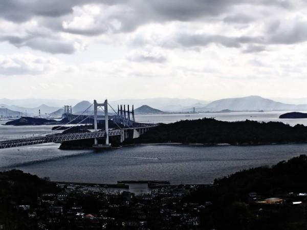 Seto-ohashi bridge Shikoku island sea Okayama
