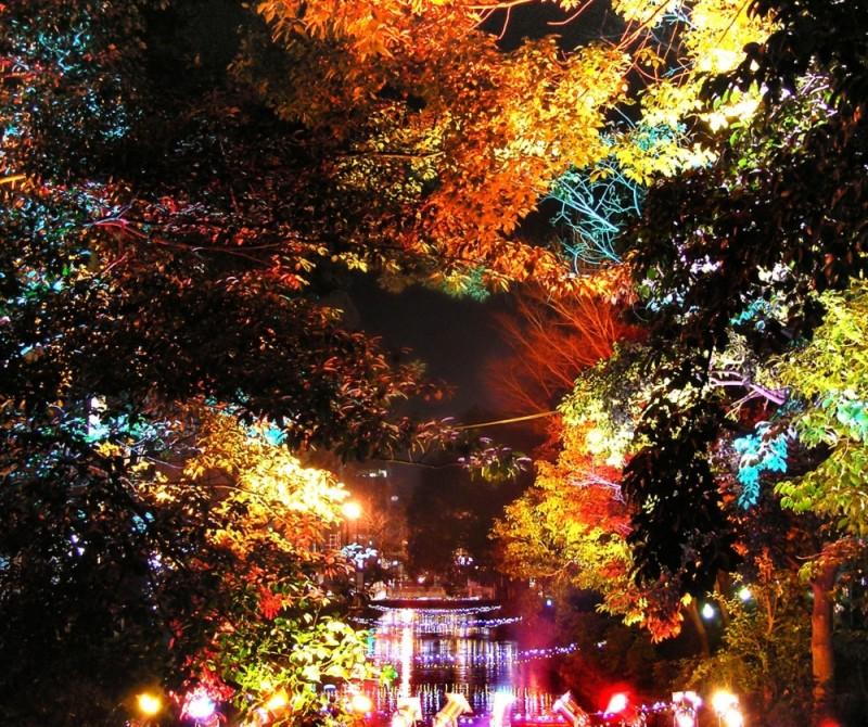 Okayama Nishigawa light decoration