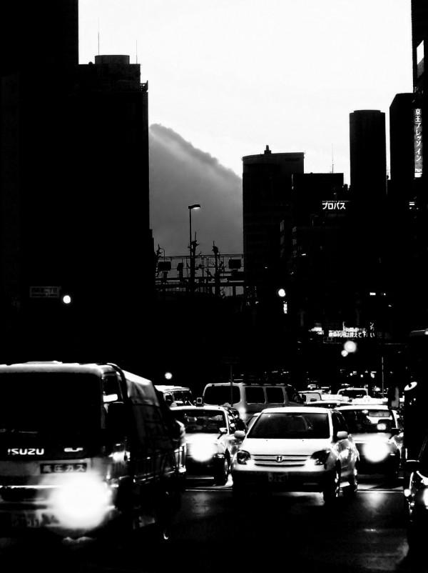 Shinjuku Tokyo twilight city downtown