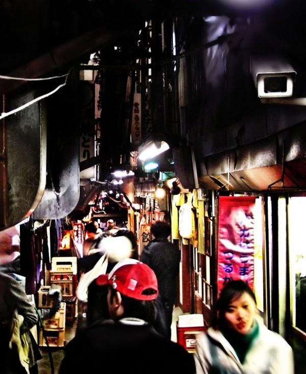Yakitori restaurant street Shinjuku Tokyo