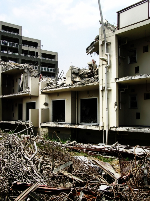 Sonoda neighbourhood apartment demolition japan