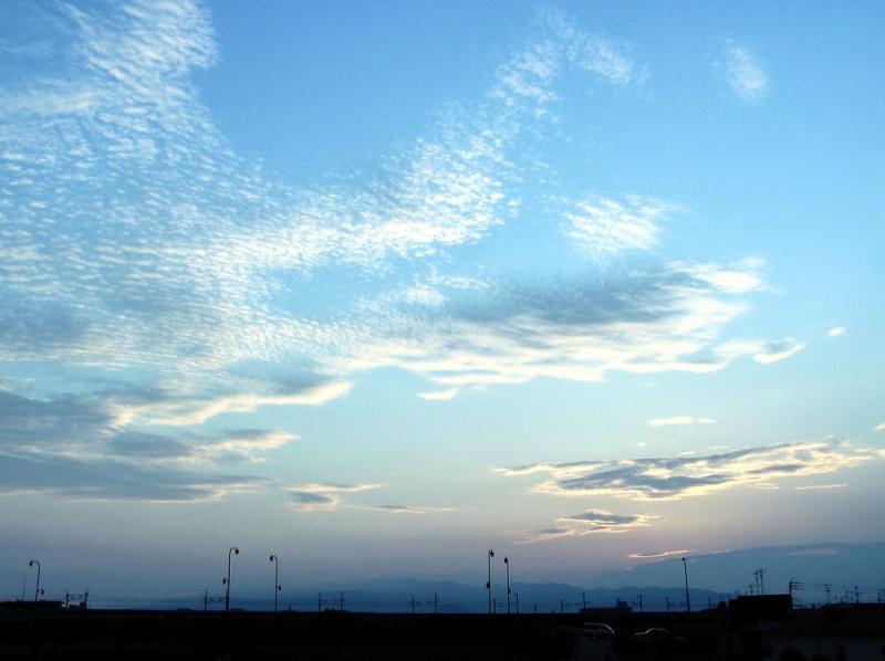 sunset sonoda mogawa amagasaki japan cloud sky